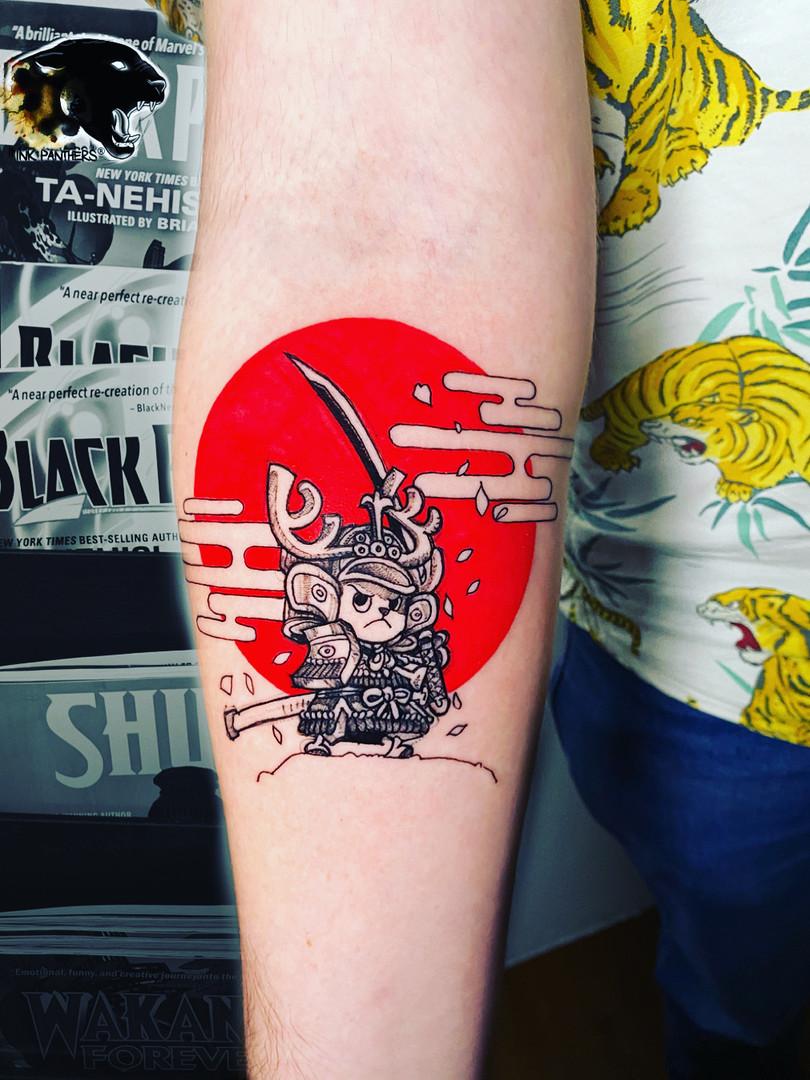 Quincy / Kwills - comic tattoo Ink Panthers Echt Tattooshop Limburg Tattoo