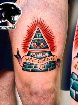 Rocky - we are watching tattoo Ink Panthers Echt Tattooshop Limburg Tattoo