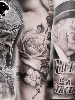 Ivan - various Ink Panthers Echt Tattooshop Limburg Tattoo
