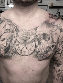 Ivan - Chestpiece Ink Panthers Echt Tattooshop Limburg Tattoo
