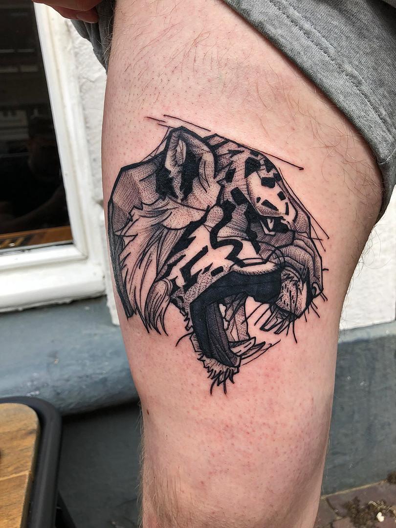 Quincy / Kwills - tiger Ink Panthers Echt Tattooshop Limburg Tattoo