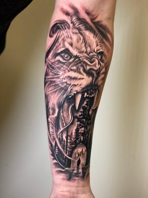 Artur Stec - Lion Ink Panthers Echt Tattooshop Limburg Tattoo