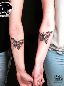 Rocky - Mom & daugther tattoo Ink Panthers Echt Tattooshop Limburg Tattoo