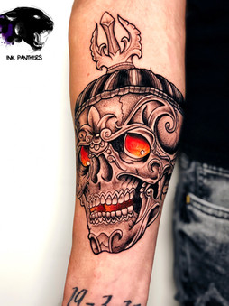Rocky - traditional Ink Panthers Echt Tattooshop Limburg Tattoo