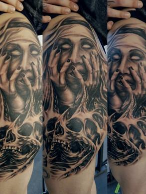 Artur Stec - horror non Ink Panthers Echt Tattooshop Limburg Tattoo