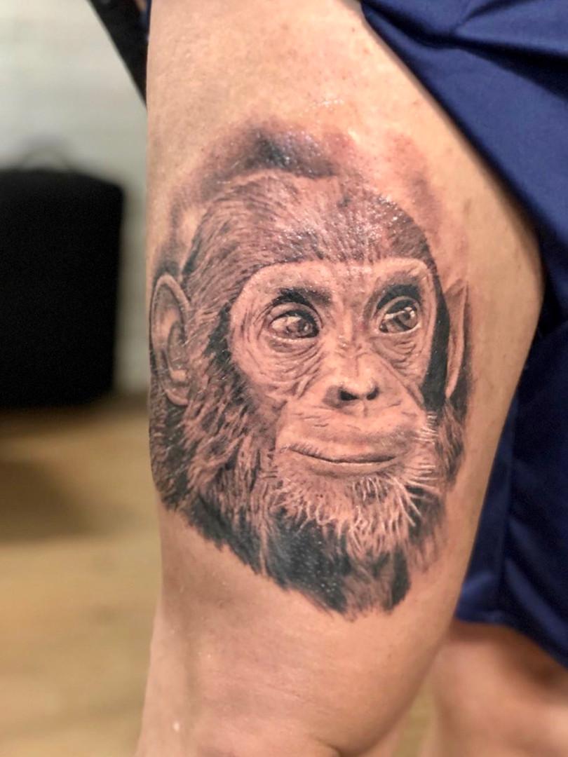 Ivan - monkey tattoo Ink Panthers Echt Tattooshop Limburg Tattoo