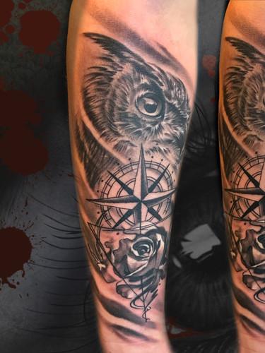 Artur Stec - Owl Ink Panthers Echt Tattooshop Limburg Tattoo