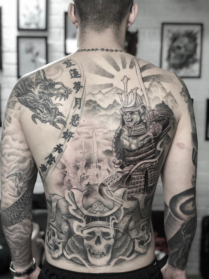 Ivan - backpiece in progress Ink Panthers Echt Tattooshop Limburg Tattoo
