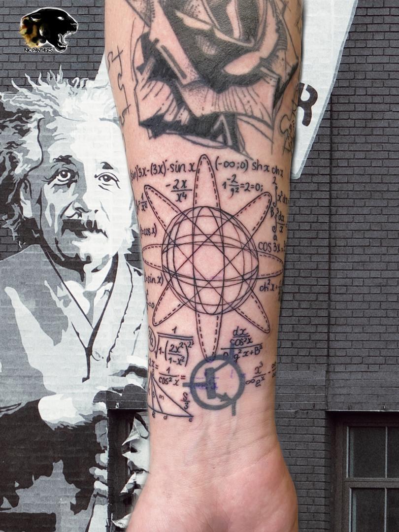 IQuincy / Kwills - Math tattoo Ink Panthers Echt Tattooshop Limburg Tattooc