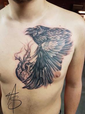 Artur Stec - Crow Ink Panthers Echt Tattooshop Limburg Tattoo