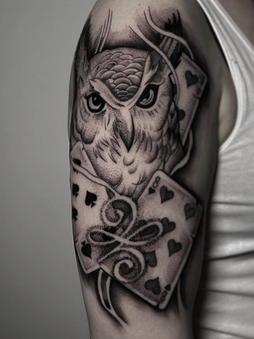 Rocky - Owl - Ink Panthers Echt Tattooshop Limburg Tattoo