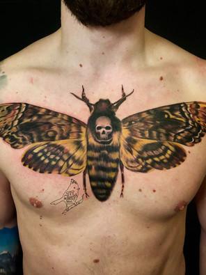 Jennifer / Titmouse - death moth Ink Panthers Echt Tattooshop Limburg Tattoo