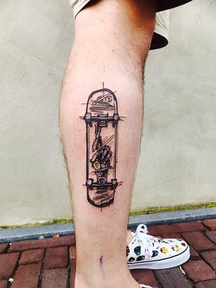 Quincy - Skateboard  Ink Panthers Echt Tattooshop Limburg Tattoo