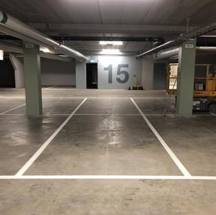 Linjemålning parkeringslinjer garage