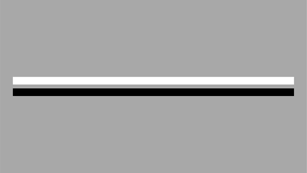 Kontrastmarkering linjer för glas 75mm