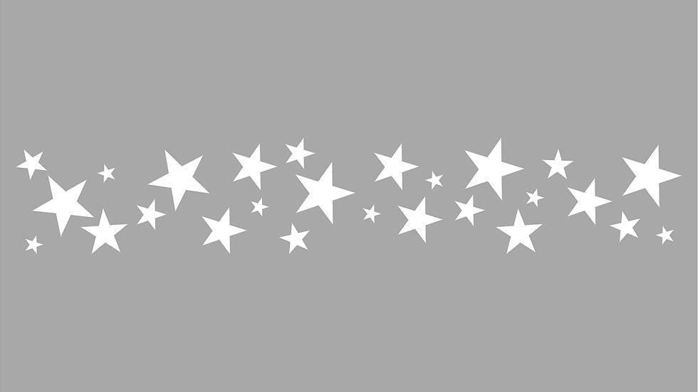 Kontrastmarkering stjärnor bård för glas 200mm