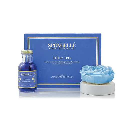 Spongelle Blue Iris Floret Diffuser Set