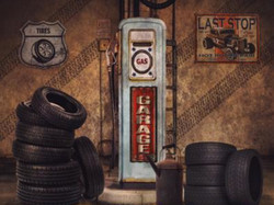 little man tire garage 60x80
