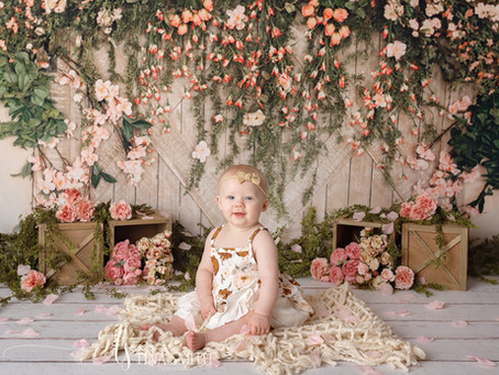 Miss Ivy 6 month sitter session Niceville Photographer