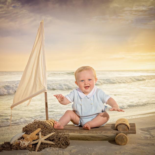 fort walton beach child beach photograph