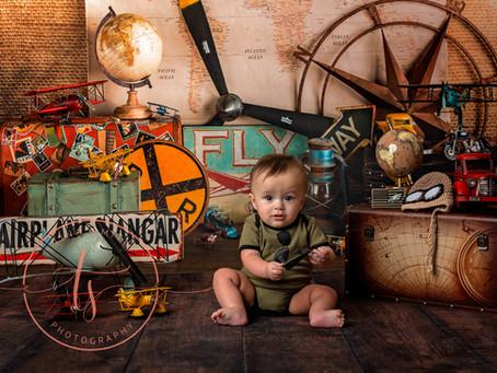 baby c 6 months milestone session