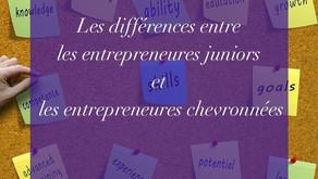 Les différences entre les entrepreneures juniors et les entrepreneures chevronnées