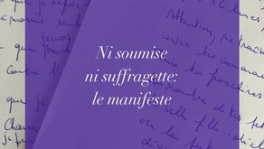 Ni soumise ni suffragette: le manifeste