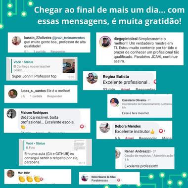 E sobre nosso teacher João...