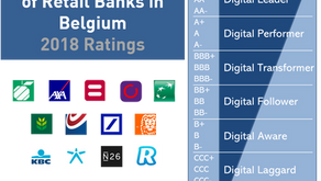 2018 digital performance rating of Retail Banking Belgium