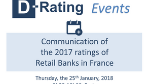 Event : Communication of the 2017 digital ratings of Retail Banks in France