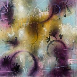 Sweet purple morning             oil on canvas cm140x130 -2011-
