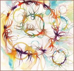 Floating-Colors-Ink-on-paper-cm30-x-cm30-2016