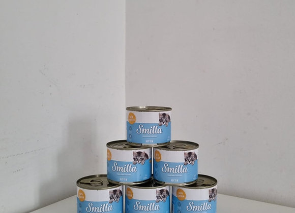 Smillia Tins of Kitten Food, 12 x 200g