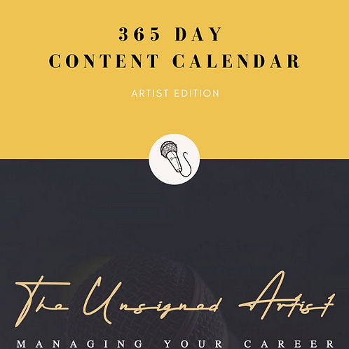 Content Creation Calendar - Artist Edition