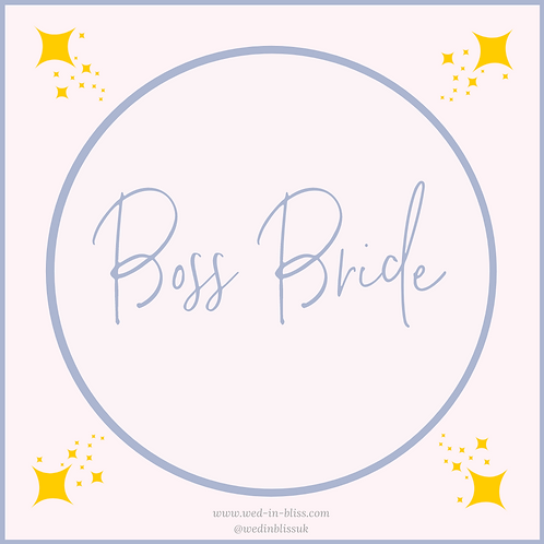 Boss Bride Planning Package