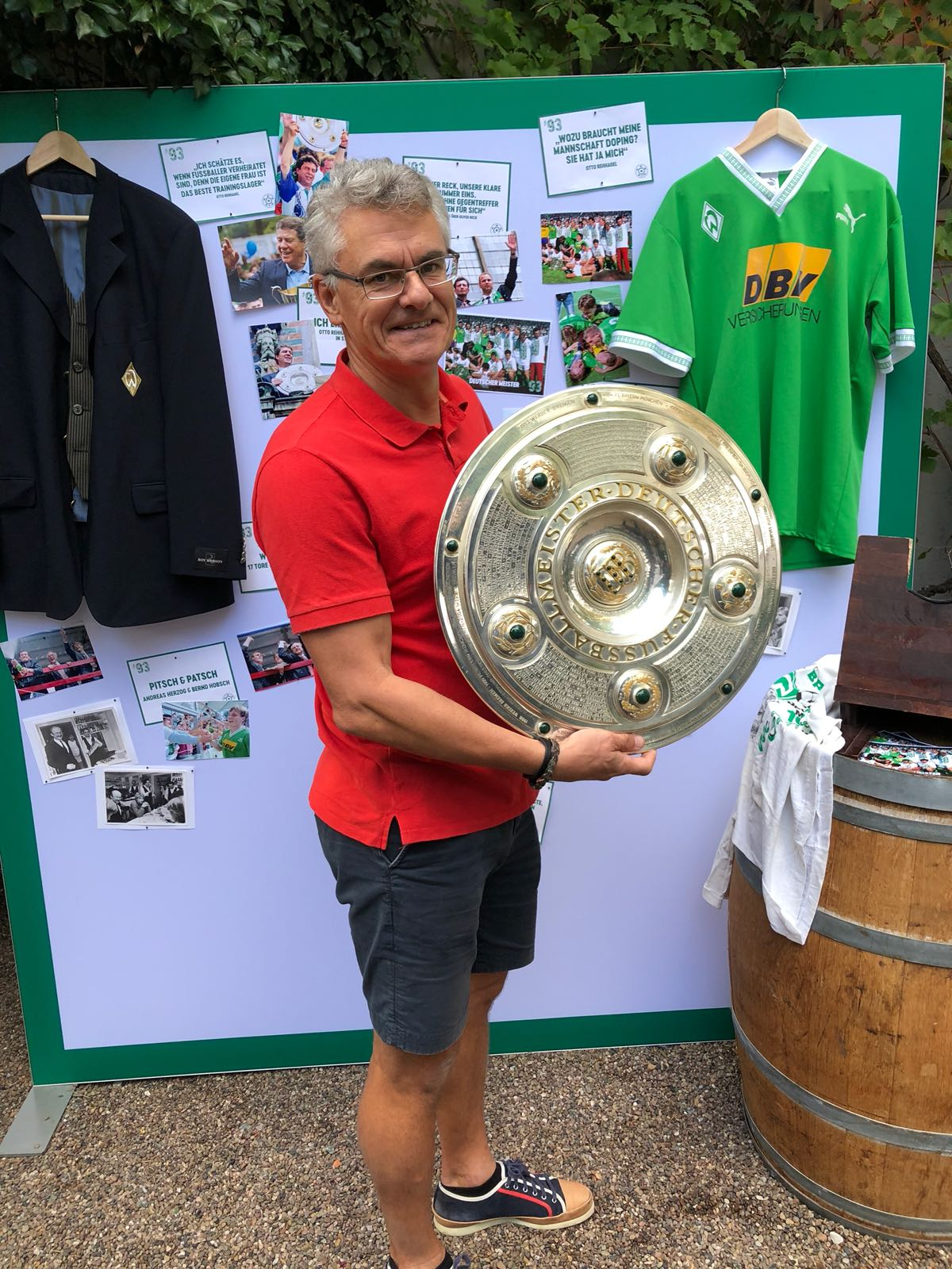 Celebrating the 25th anniversary of winning the Bundesliga 1993