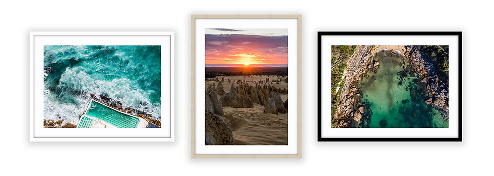 3x frames (2l, 1p) mockup white backgrou