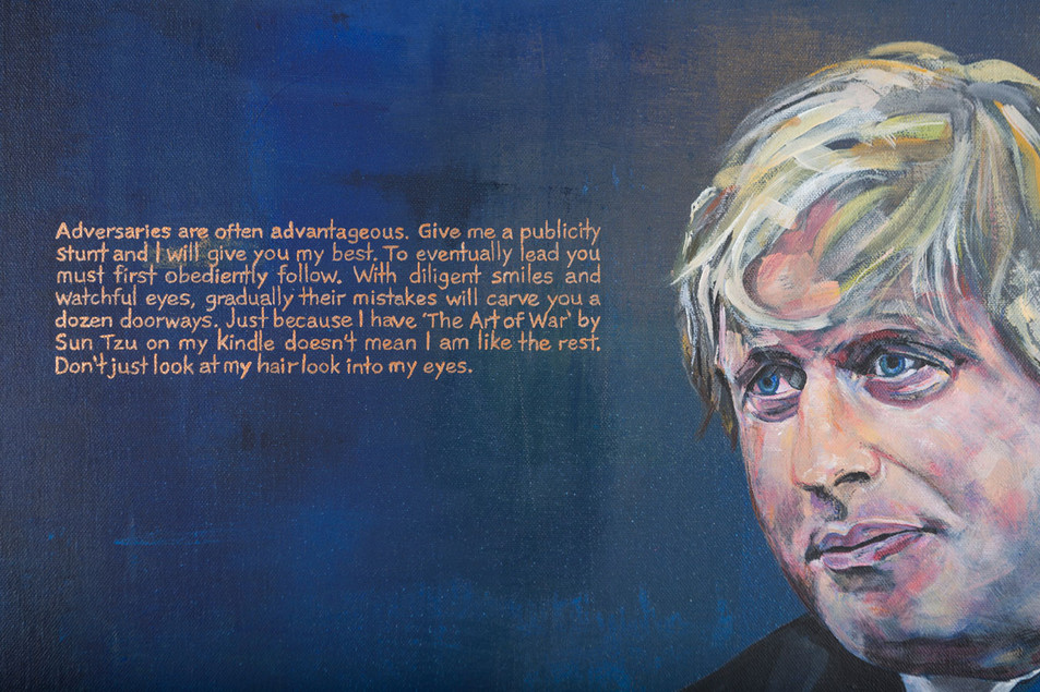 Detail from 'Will the real Mr Johnson please stand up'