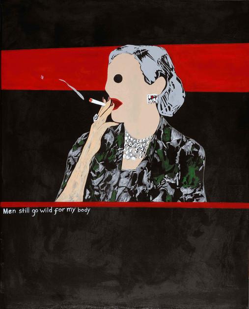 'Cougar Smoking A Cigarette'