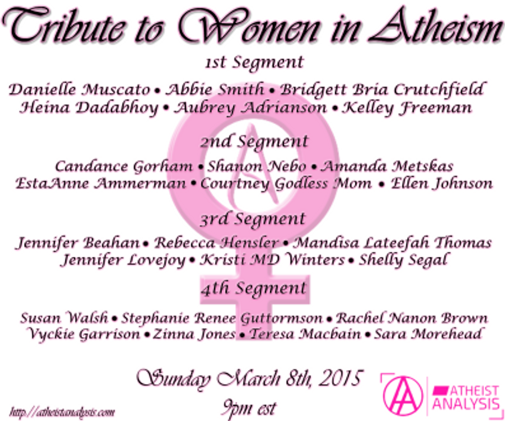 IWD Tribute AA Guests