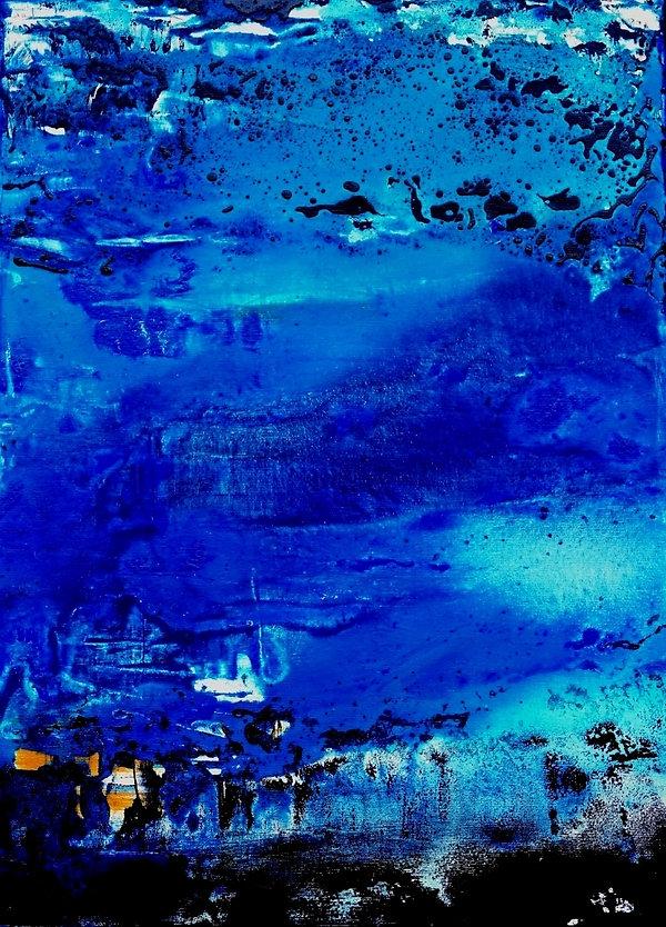 Blaue Stadt im Norden