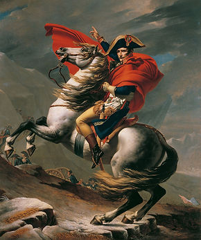 Jacques-Louis David  Napoleon auf dem Gr