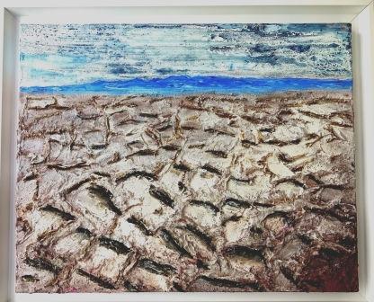 Sand auf der Salzwüste