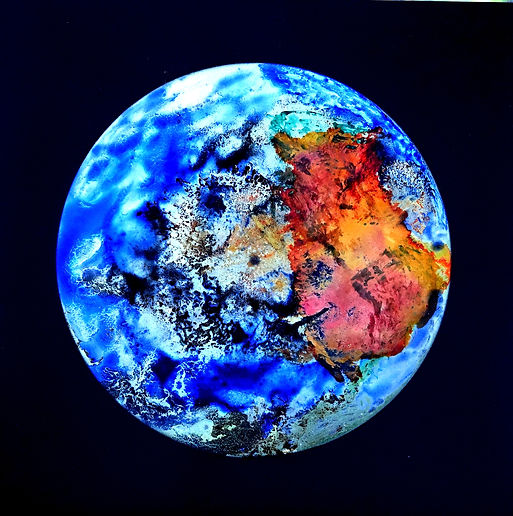 Der blaue Planet errötet