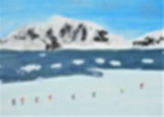 Skimarathon in der Antarktis