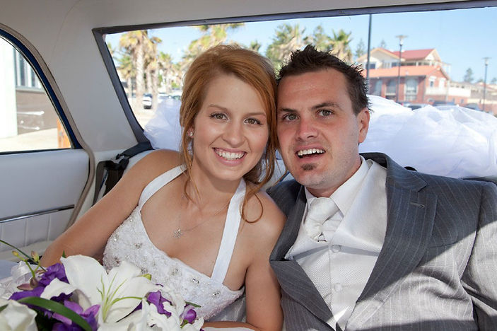Wedding day bliss and no stress  thanks to A & J Chevrolet they thought of everything !