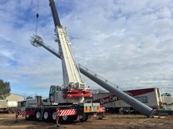 Crane Lift 100t, 30m Pole Lift, NBN