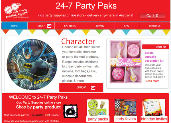 24-7 Party Paks kids party supplies