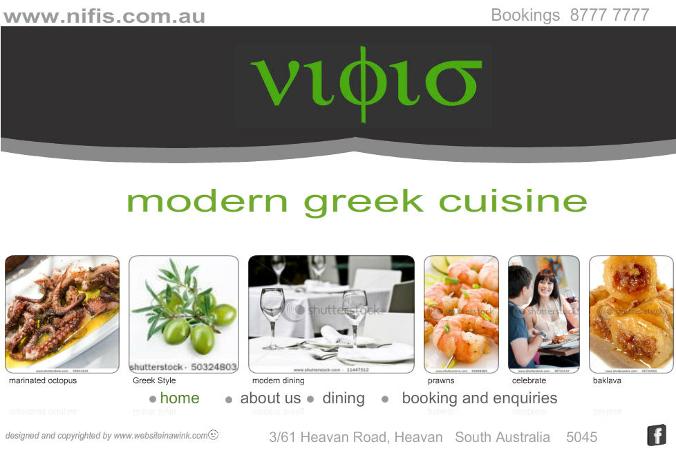 Nifis Greek restaurant template