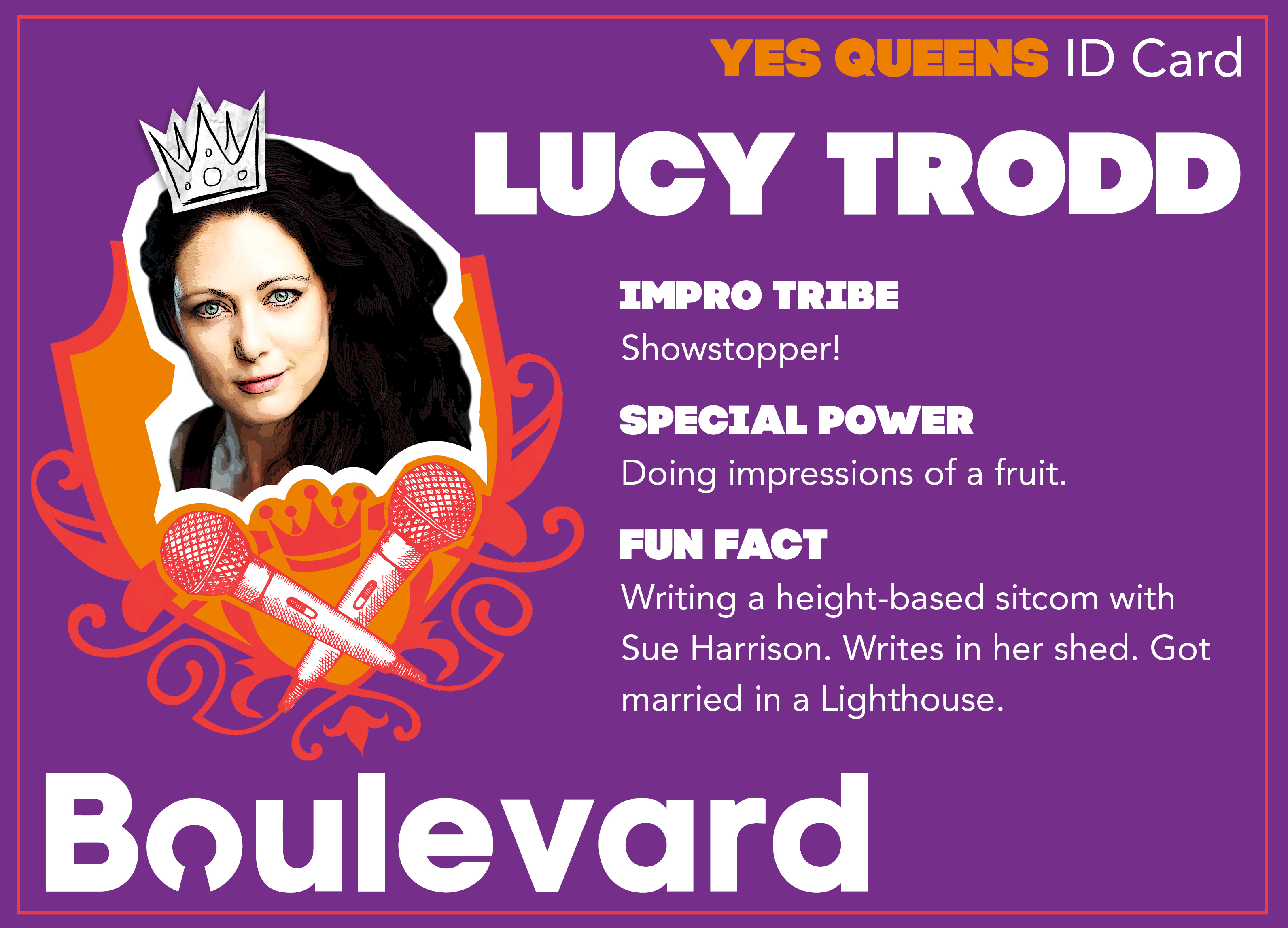Yes Queens ID Card Lucy